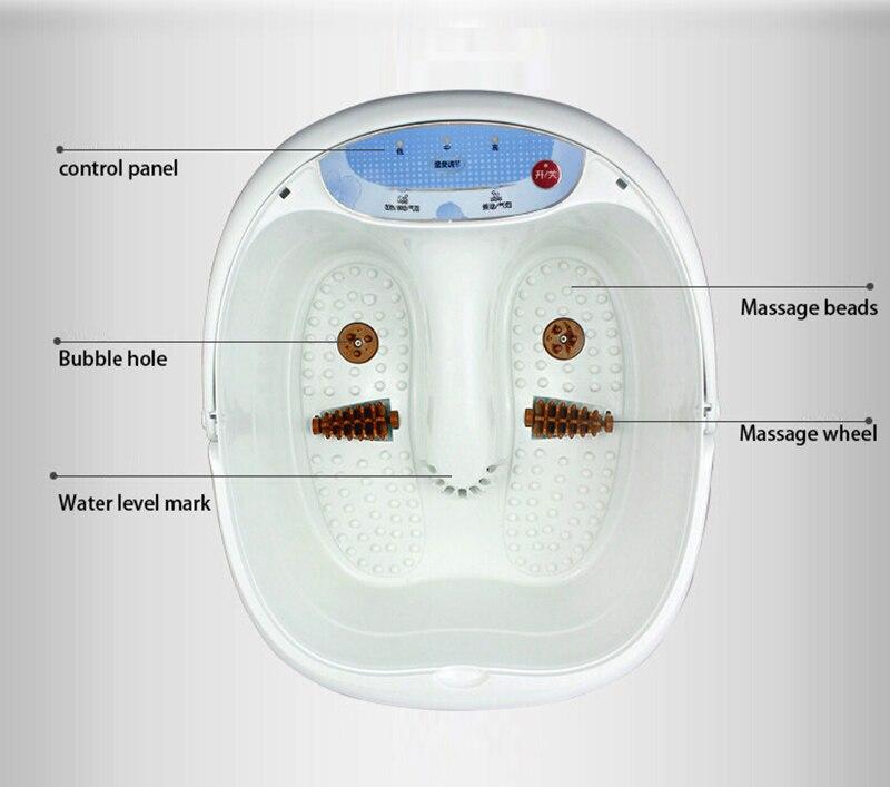 2017 New Arrival Foot Bath Massager Foot Spa Vibration Bubble Heat & Massage