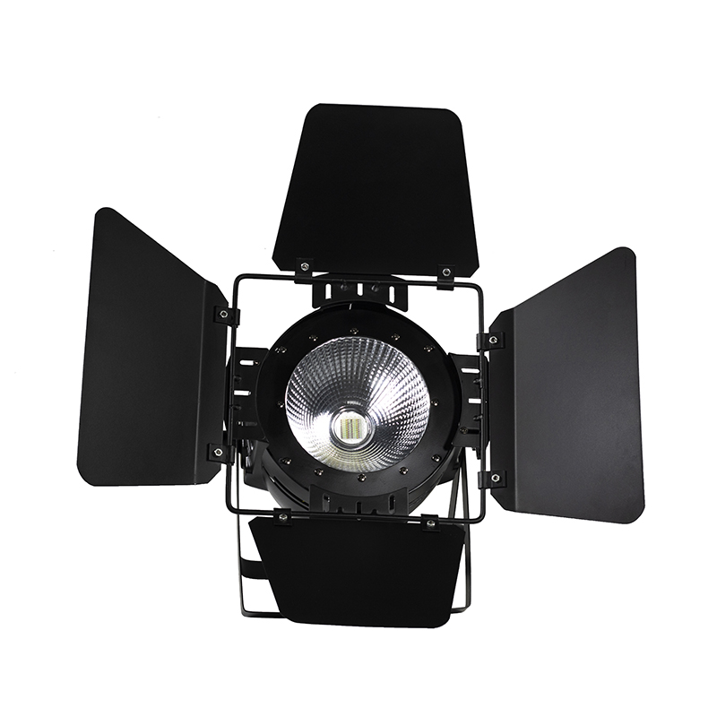 4PCS LED Par COB 100W RGBWA+UV 6IN1 DMX512 Lighting With Barn Doors For Decoration Disco Party Club DJ Stage LED Fast Shipping free shipping 4pcs lot 200w 6in1 rgbwa uv cob led par light black with barndoor with dj stage dmx cob led par lighting