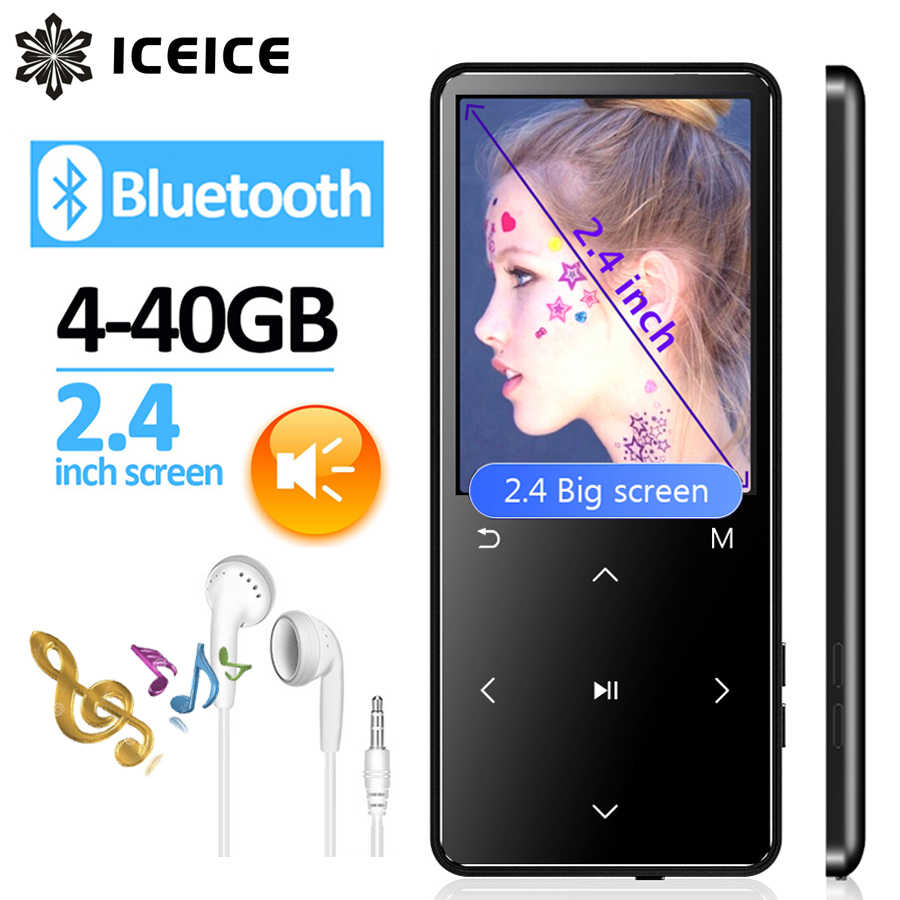 ICEICE Sport MP3 Player bluetooth 4.2 with Speaker 2.4 Screen touch keys hi fi fm radio MP 3 music player portable walkman MP-3