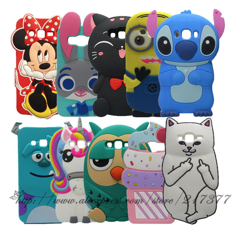 100% Quality Newest 3d Cartoon Stitch Minnie For Samsung Galaxy J2 Prime Phone Case For Samsung J2 Prime Rubber Cover Grand Prime Plus Case