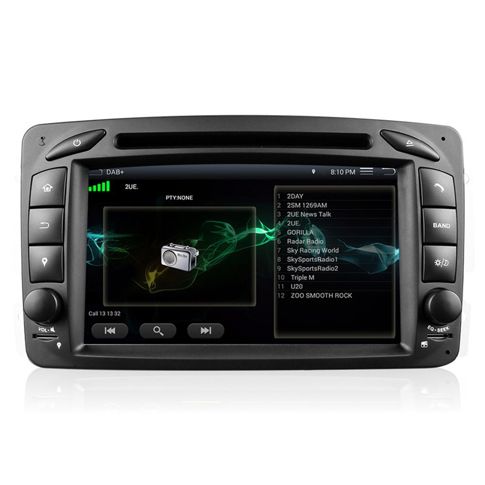 2 double din car dvd android 5 1 video player for mercedes for Mercedes benz gps system