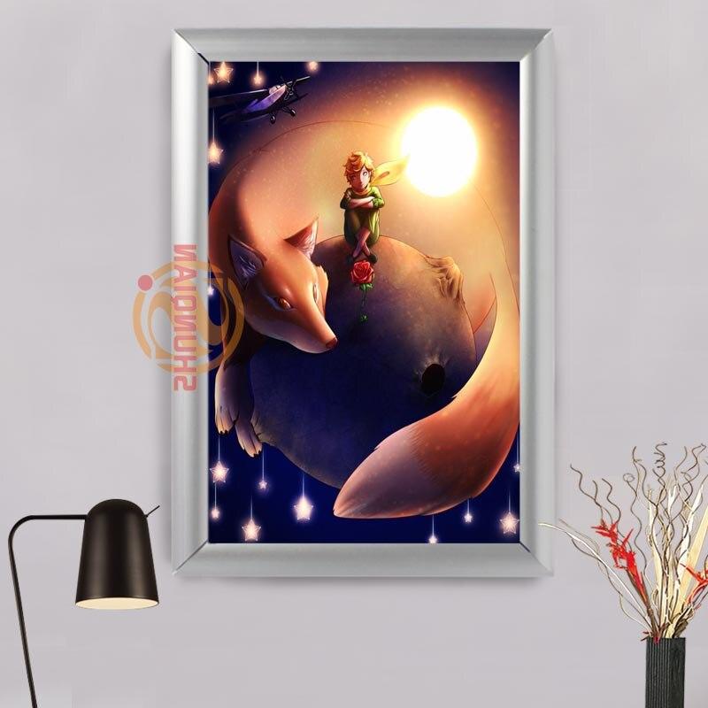 ٩(^‿^)۶Le Petit Prince nueva lona Marcos pared arte personalizado ...