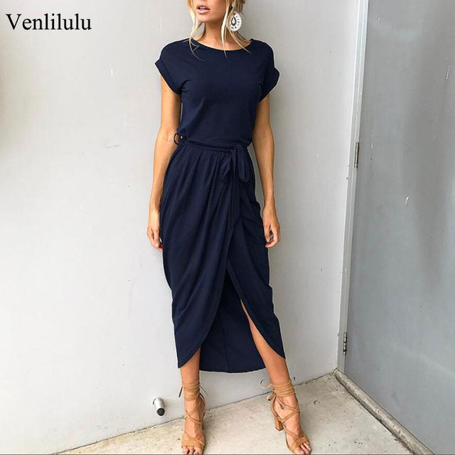 Maxi Dress Casual Slim Elegant Bodycon Dress