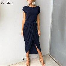 2019 vestidos de fiesta de talla grande de verano para mujer vestido largo Maxi Casual Delgado elegante vestido Bodycon vestidos de playa para mujer 3xl