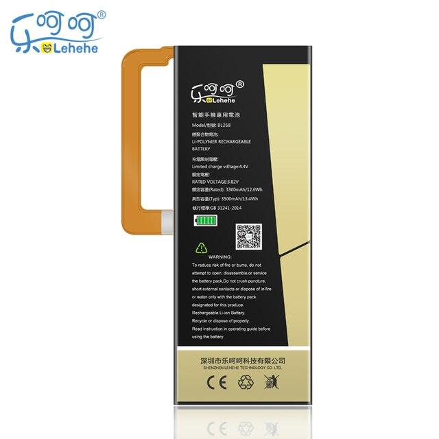 New Original LEHEHE BL268 Para Lenovo ZUK Z2 3500 mAh Bateria de substituição de Alta Qualidade Bateria Do Telefone Móvel com ferramentas Presentes