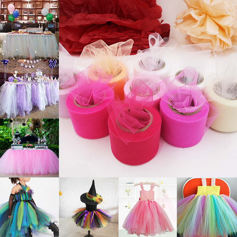 71f0a3648fe Party Decorations 5CM 22M Sheer Gauze Tutu Skirt Festival Supplies Crystal  Tulle ...