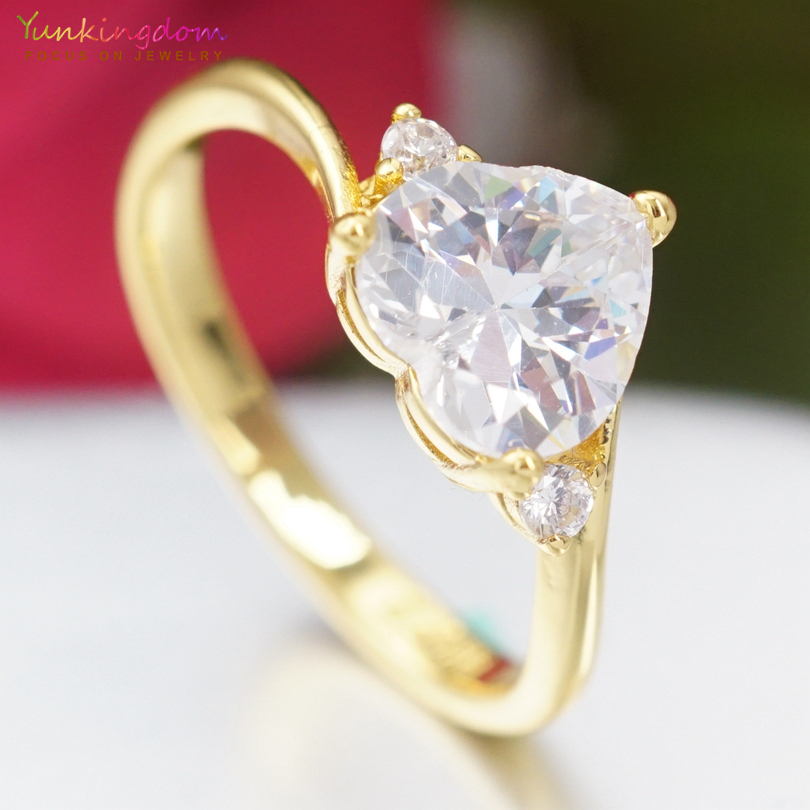 yunkingdom high quality engagement rings for women white. Black Bedroom Furniture Sets. Home Design Ideas