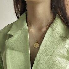 Collar LouLeur con colgante de Estrella de Plata de Ley 925 con forma de Luna, cadena Clavicular Irregular, collar de Color dorado, joyería nueva de moda para mujer