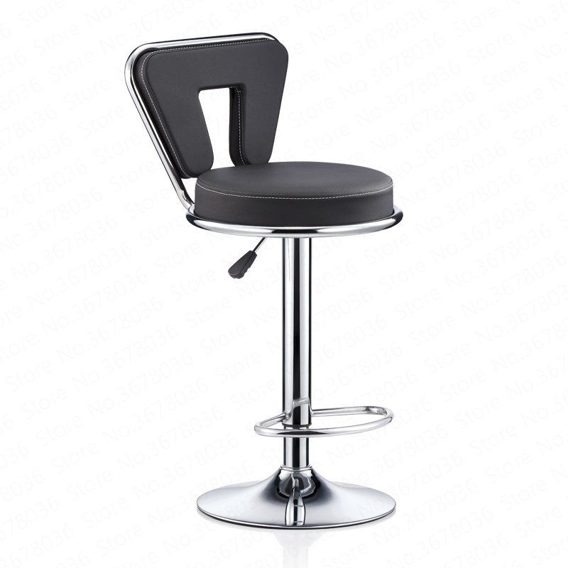 New Work Bench Master Stool Beauty Chair Hairdressing Nail Backrest Stool Personality Stool Backrest Black Nail Bar Furniture