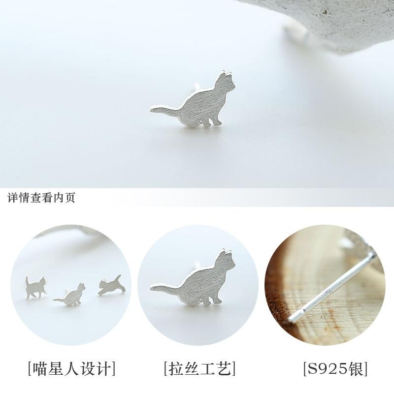 Creativity Design S925 Sterling Silver Cute Animal Stud Earrings for ...