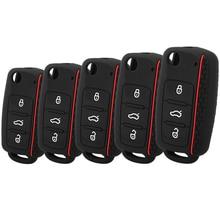 Fashion Silicone Car Key Case For Volkswagen VW Passat Golf Jetta Bora Polo Sagitar Tiguan Auto Key Bag Cover Protector