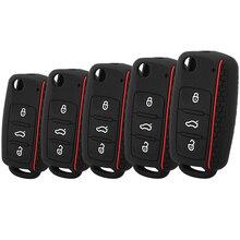 Étui de protection pour clé de voiture en Silicone, pour Volkswagen VW Passat Golf Jetta Bora Polo Sagitar Tiguan, housse de protection à la mode