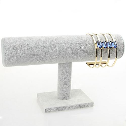 Velvet Leather T-Bar Jewelry Display Stand  Bracelet Watch Jewelry T-Bar Display Stand Holder Rack Soft To Touch Jewelry Stand
