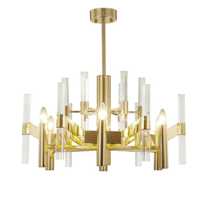 Postmodern Lustre Crystal Led Chandeliers Lighting Gold Metal Living Room Led Pendant Chandelier Lights Hanging Light Fixtures|Chandeliers| |  - title=