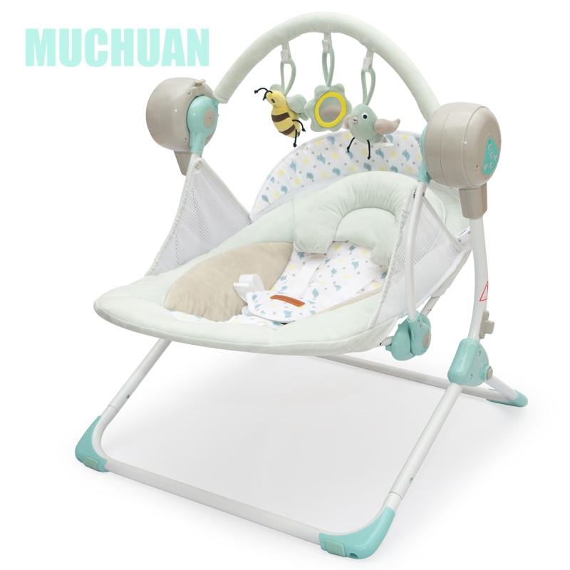 Benken MUCHUAN électrique bébé balancelle musique chaise berçante berceau automatique bébé panier de couchage placarders chaise longue - 6