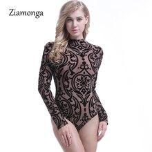 Ziamonga, женские шорты, комбинезоны,, элегантные, сексуальные, с принтом, цельный, бодикон, боди, для женщин, Manche Longue, женское, Кружевное боди