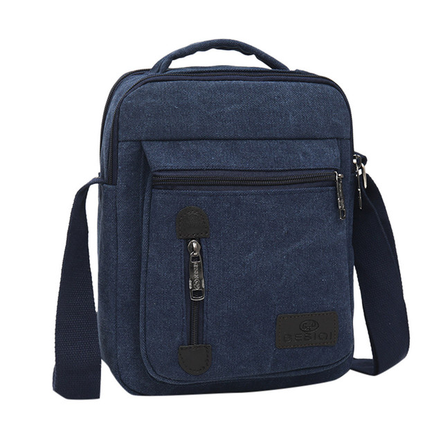 Mens BagFashion Canvas Solid Color Casual Business Shoulder and Messenger Bags bolso hombre sacoche homme