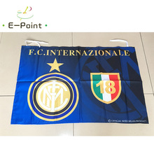 95cm*65cm Size Italy FC Internazionale Milano Christmas Decorations for Home Flag Gifts