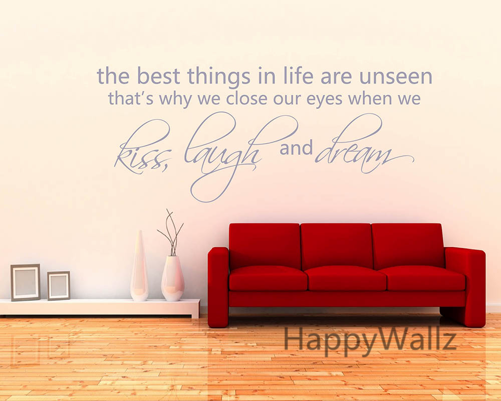 The best things in life are unseen life quotes wall sticker diy the best things in life are unseen life quotes wall sticker diy decorative love life quote custom colors vinyl wall decals q158 in hair clips pins from amipublicfo Images