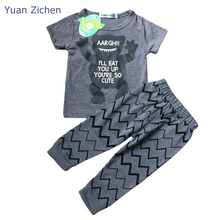 Autumn Baby Boy Girl Clothing Suits Long Sleeve T-Shirt Pants 2Pcs Childrens Boy Girls Clothing Sport Set Kids Clothes