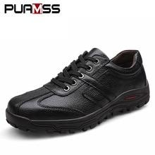 Брендовая мужская повседневная обувь; мужские туфли из натуральной кожи на плоской подошве; Мягкие Туфли-оксфорды; Уличная обувь наивысшего качества; мужские кроссовки размера плюс 48