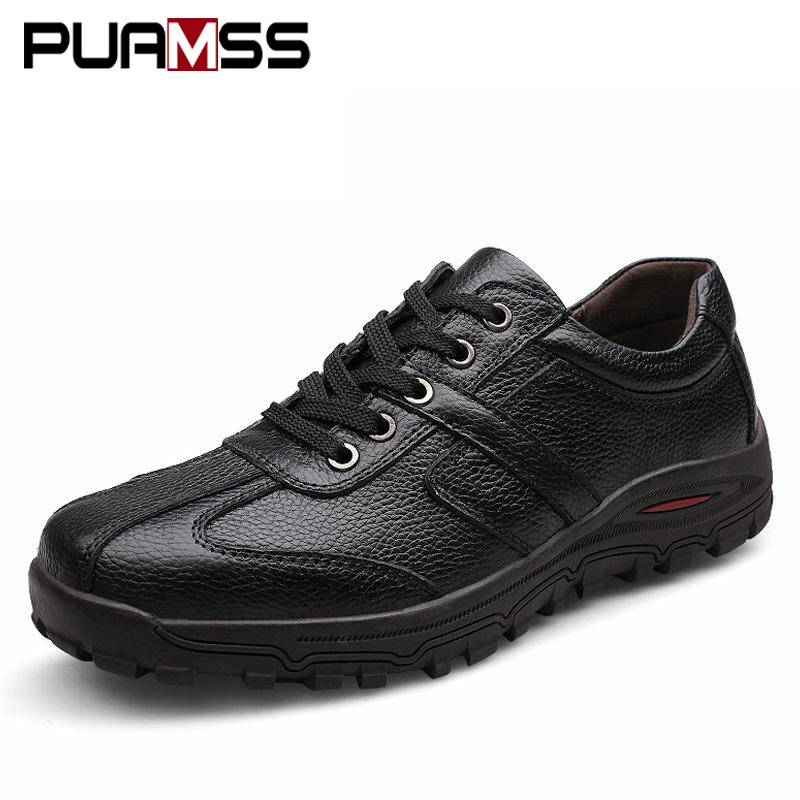 Brand Men Casual Shoes Genuine Leather Men Flats Soft Oxford Shoes Top Quality Outdoor Shoes Men Sneakers Plus Size 48