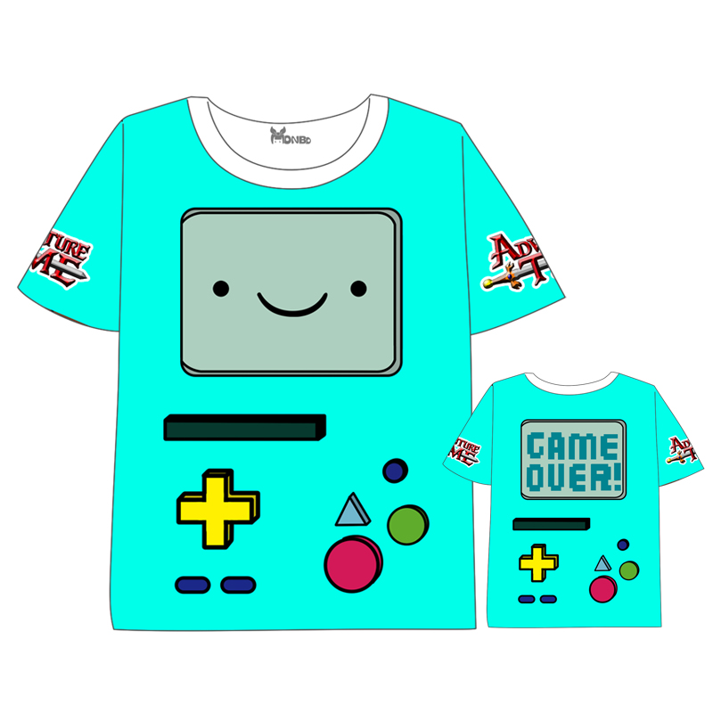 Anime Adventure Time with Finn and Jake T shirt Tops Unisex Cosplay Short Sleeve Summer dress children t shirt in T Shirts from Men 39 s Clothing