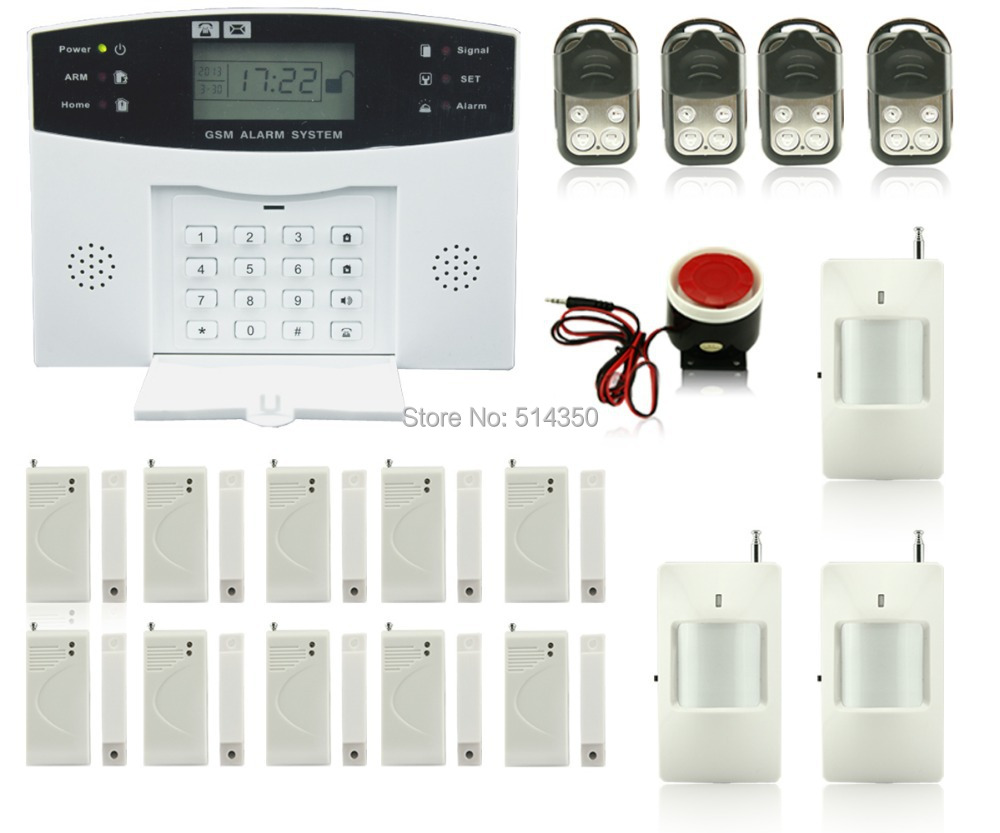 Dual voice touch keypad  home GSM alarm system home/shop security system alarm motion sensor with infared sensor wireless smoke fire detector for wireless for touch keypad panel wifi gsm home security burglar voice alarm system