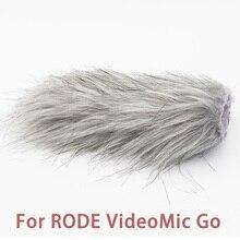 Ulanzi Microfoon Voorruit Harige Wind Muff Voorruit Dode Kat Voor RODE VideoMic Go/Takstar SGC 598/MIC 01/Comica v30 Lite
