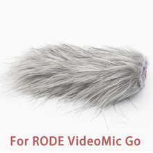 Ulanzi Microphone pare brise Furry pare vent pare brise chat mort pour RODE VideoMic Go/Takstar SGC 598/MIC 01/Comica V30 Lite