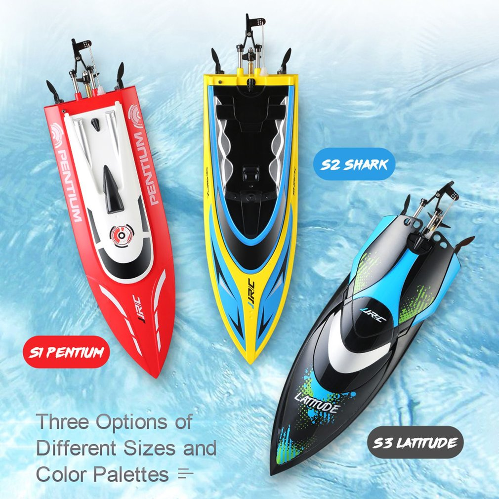 JJRC S1 Pentium S2 Shark Mini RC Boats 2.4GHz 2CH 25KM/h High Speed TR Waterproof Remote Control Racing Boat Adults Kids Gifts high quality high speed rc boat 13000 6ch mini radio control simulation series rc nuclear racing submarine model kids best gifts