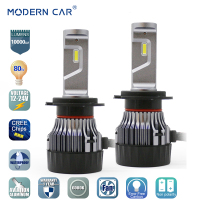 MODERN CAR 80W 10000LM Fog Light 880 9005 9006 9012 H1 H3 H4 H7 H10 H13 H11 H8 H9 PSX26 LED Headlight Bulb Cree Chips Headlamp
