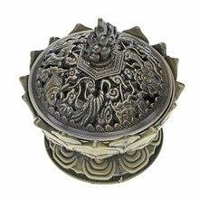 3″ Lotus Incense Burner Holder Small Size Incensory Copper Incense Burner Stove Disc Sandalwood Incense Coil Buddha Ornaments