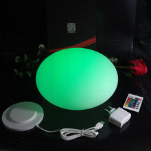 D20*H14cm Waterproof plastic colors changing led half round ball Floating Mirror Ball for Christmas Decoration Free Shipping 1pc