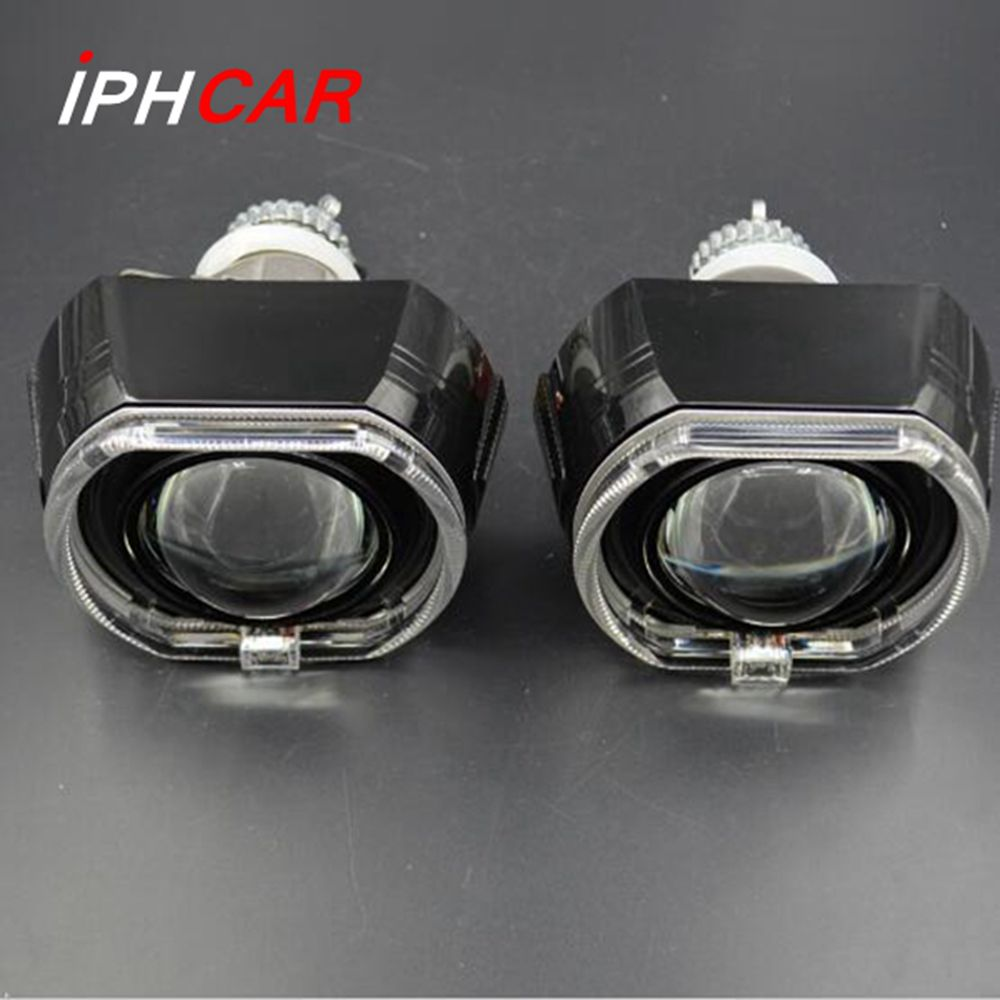 2pcs 3.0 inch H4Q5 Bi xenon Bixenon hid Projector lens metal holder D1S D2S D2H D3S for bmw LED day running angel eyes xenon 2 5inch bixenon projector lens with drl day running angel eyes angel eyes hid xenon kit h1 h4 h7 hid projector lens headlight