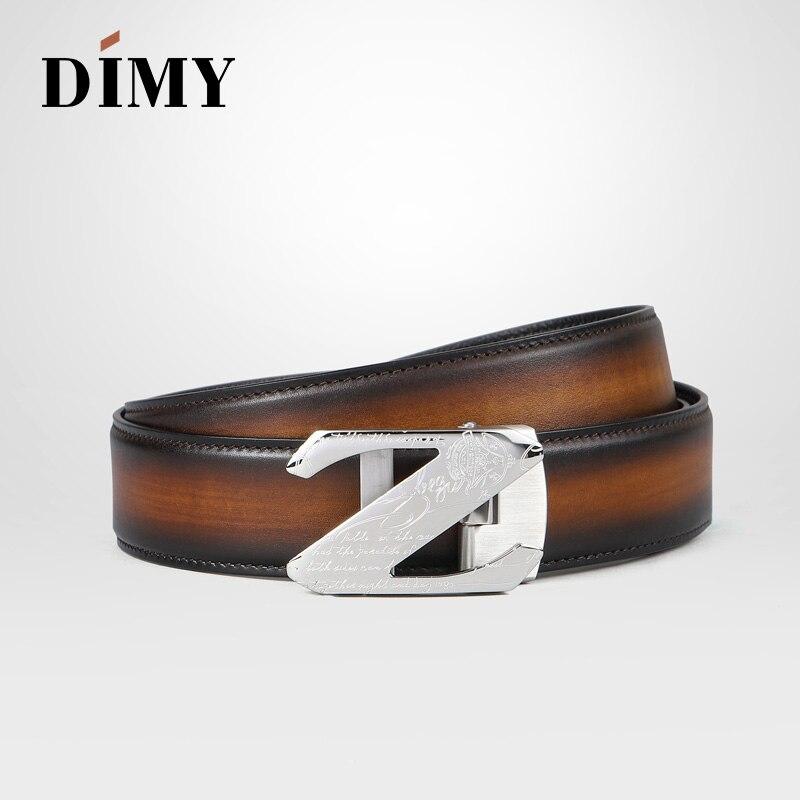 DIMY Metal Z автоматические пряжки ремни для мужчин пояса из натуральной кожи пояса мужские высококачественные винтажные пряжки с буквами - 3