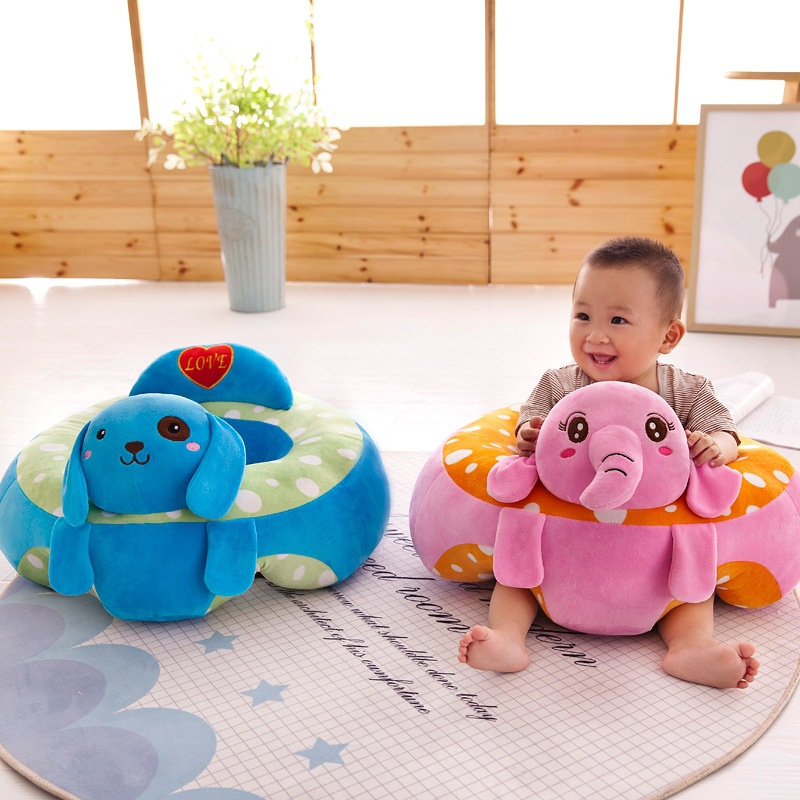 [New] Safe Animal Baby Seat Toy Plush Pikachu Elephant Dog Dolls Infant Back Support Learning Sit Safety Baby Sofa Feeding Chair