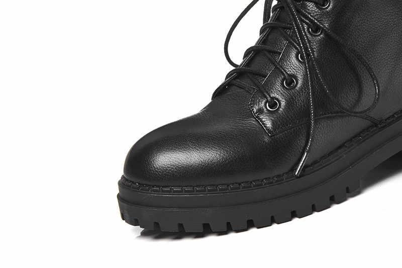 Asumer 2020 Thời Trang Bán Mới Mắt Cá Chân Giày Cho Nữ Phối Ren Da Thật Chính Hãng Da Giày Med Gót Nữ Giày Bốt Martin đinh Tán
