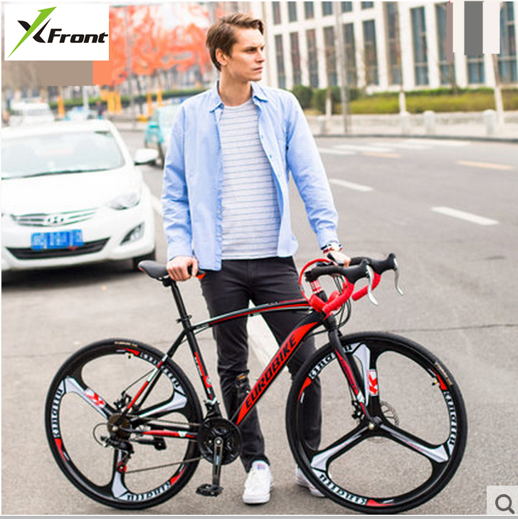 New brand carbon steel frame 700C wheel 21/27 speed disc brake road bike outdoor sport cycling bicicletas racing bicycle  new brand 14 speed racing bike 700c 50cm bike aluminum alloy frame bend bicycle cycling disc brake road bike drop shipping