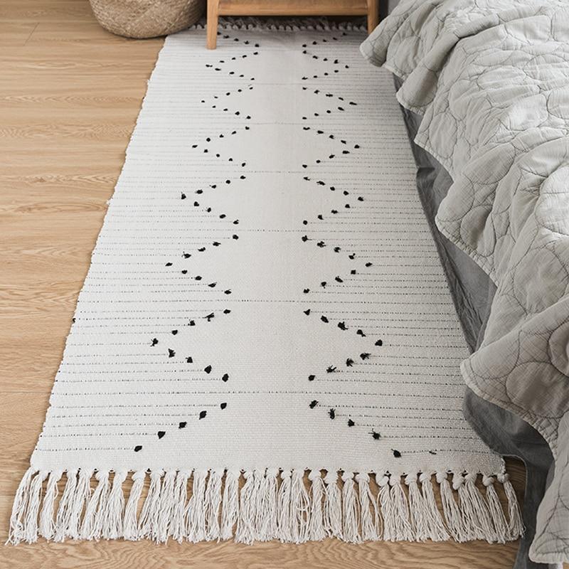 Natural Fiber Cotton Hand Woven Rugs