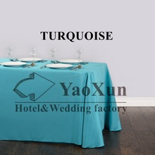 Polyester Table Cloth \ Nice Looking Plain Tablecloth   Turquoise Color