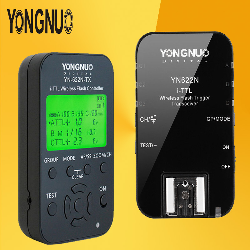 YONGNUO YN622 Kit YN-622N-TX LCD Wireless TTL Flash Trigger Controller Transmitte + YN622N HSS Single Transceiver For Nikon wireless control rgb led demon eyes light for bmw e87 e21 e30 e36 e46 e90 e24 e63 e32 e38 e65 e31 projector lights lens no error