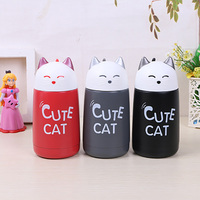 Cute Cat Vacuum Flasks Thermoses Stainless Steel Kids Thermos Cup Drinkware 350ML Water Bottle Portable Leak