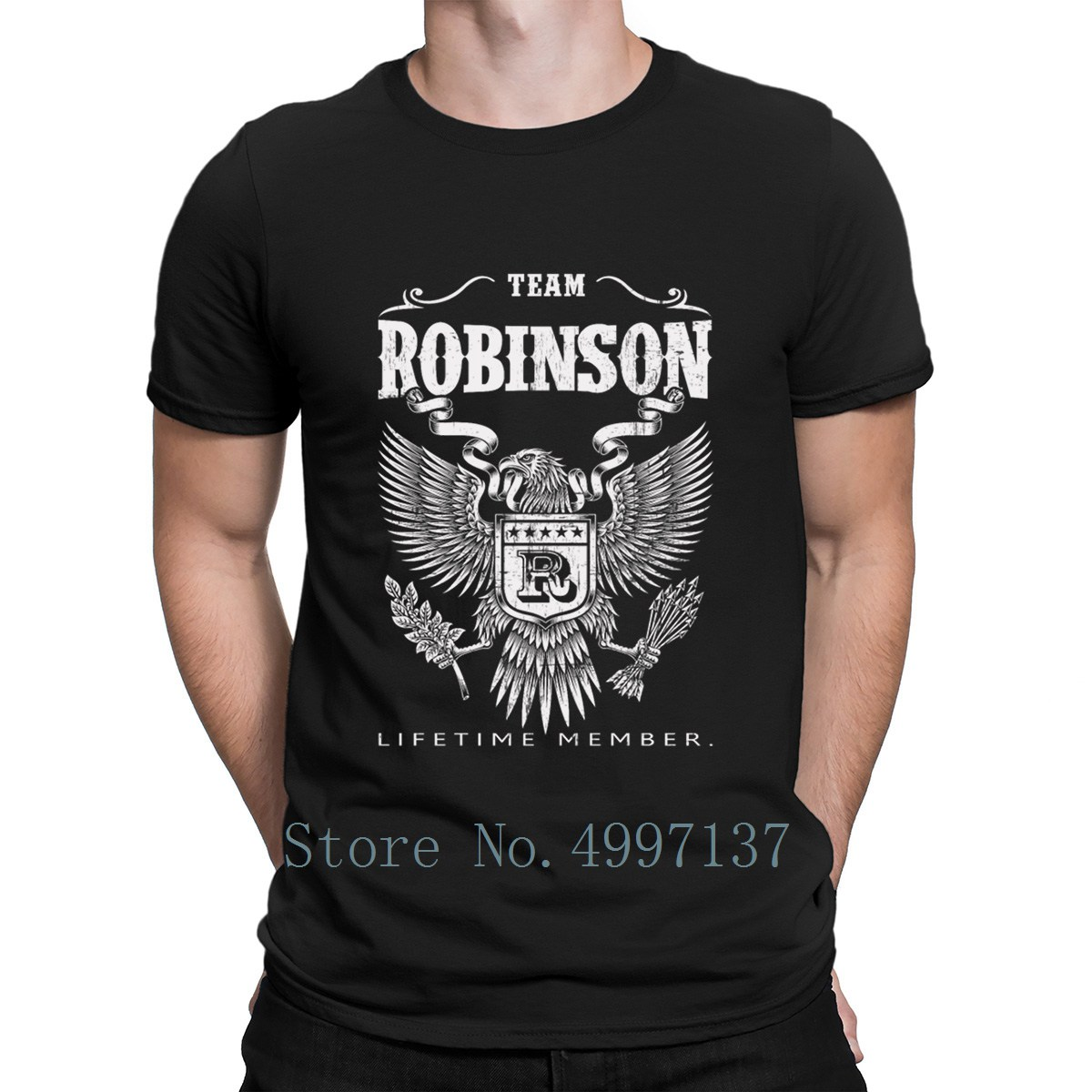 Robinson Team Robinson Ltm T Shirt Cotton Cute Leisure Funny Casual Summer Plus Size 3xl Vintage Printed Shirt image
