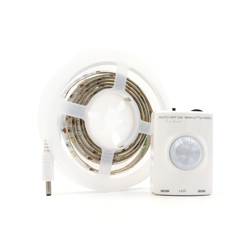 LED Motion Sensor Strip Light Waterproof Timing Function Lamp IP65 USB LED Induction Tap ...