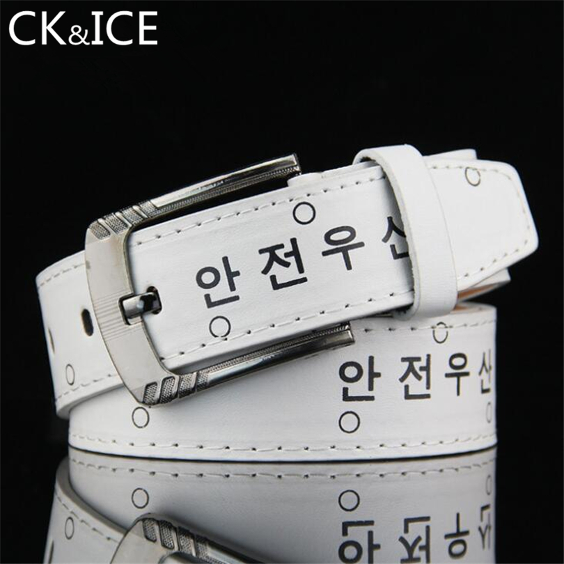 CK&ICE High Quality Hot Sale Men Women Casual Fashion Belts For Men Students Belts Pin Buckle Special Offer Faux Leather Belt