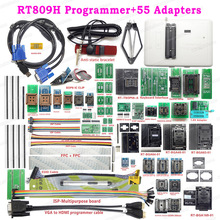 RT809H EMMC NAND FLASH USB Programmer + 55 Items BGA48 BGA64 BGA169 TSOP56 SOP44 DIP44 All Adapters With EDID Cble + Sucking Pen