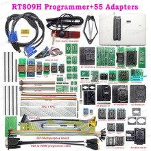 RT809H EMMC NAND فلاش USB مبرمج + 55 البنود BGA48 BGA64 BGA169 TSOP56 SOP44 DIP44 جميع المحولات مع EDID Cble + مص القلم