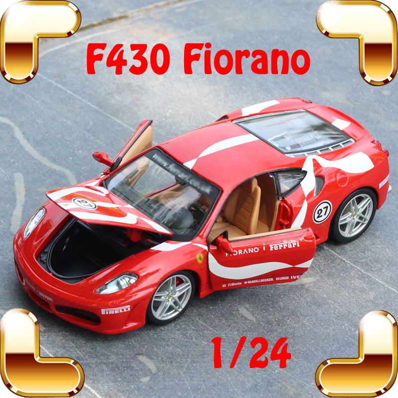 New Year Gift F430 1/24 Model Metal Racing Sports Car Vehicle Collection Toys Showcase Diecast Present For Friends Fans Choice new year gift gallargo 1 18 large model metal car metallic scale simulation diecast alloy collection toys vehicle present