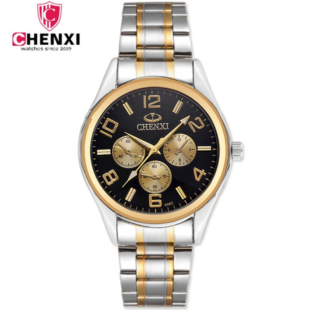 CHENXI Brand Luxury Watch Men Full Steel Quartz Watches Man Fashion Business Male Gift Gold Wristwatches High Quality NATATE natate new popular men fashion quartz watch leisure business luxury chenxi brand stainless sports wristwatch 1240